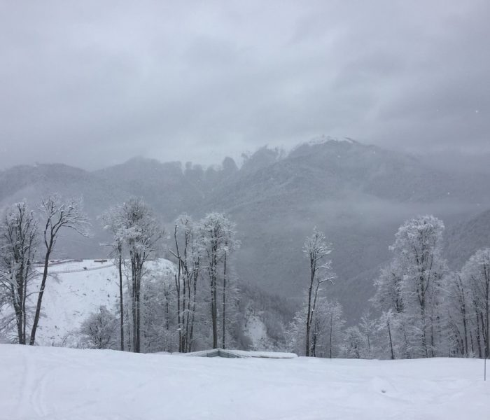 skiing in Sochi slopes