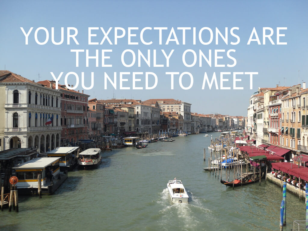 10 Things I wish I Had Known When I Was 20. Expectations.