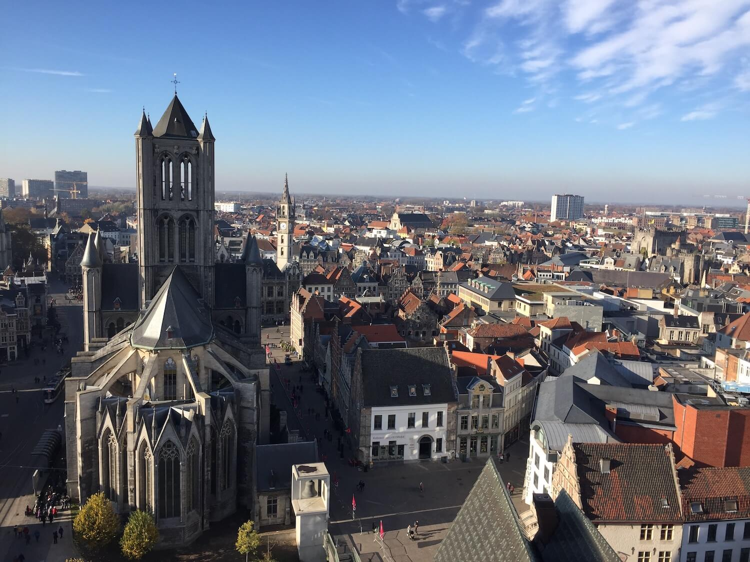 Ghent from above