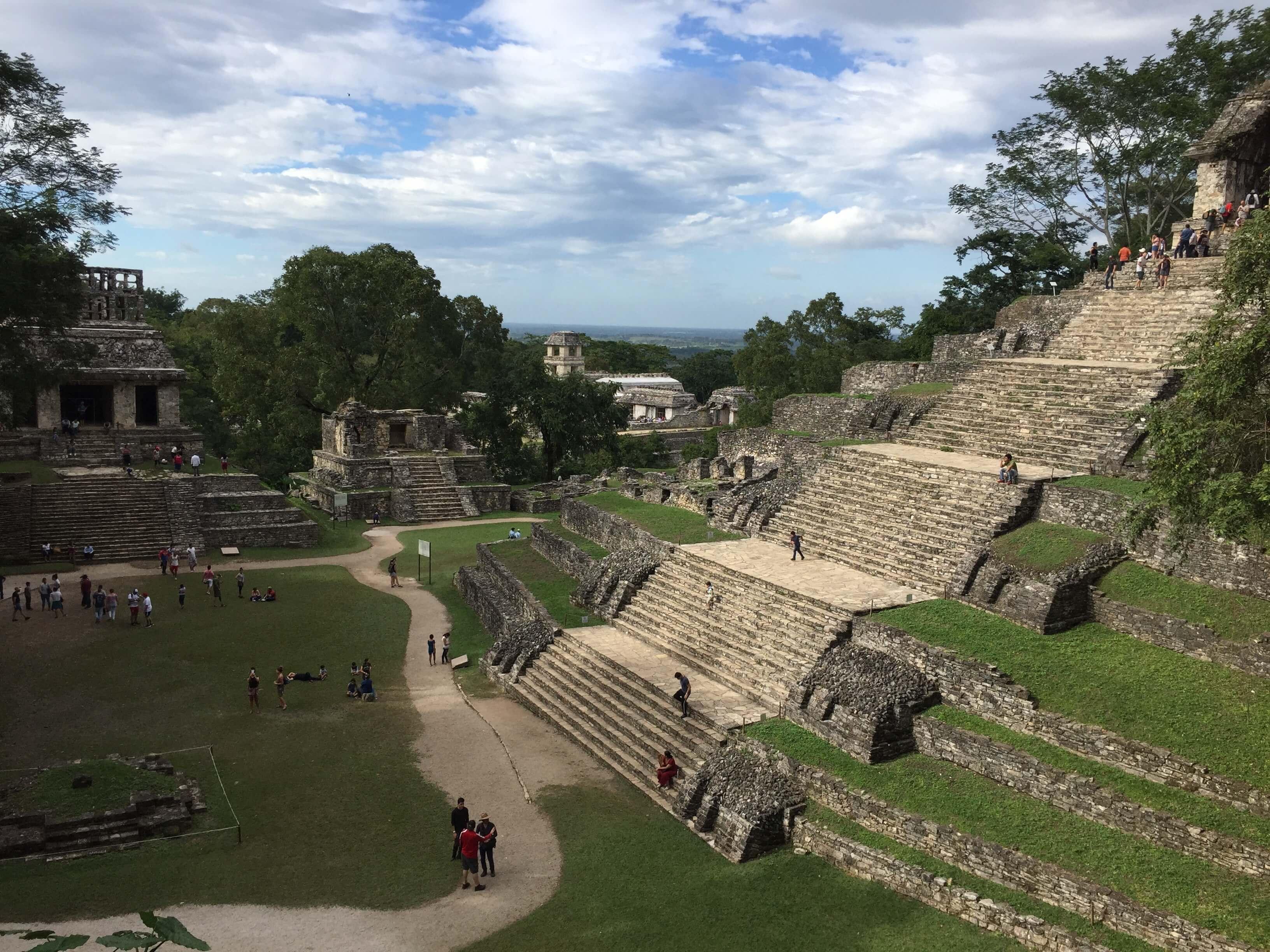 Palenque pyramids