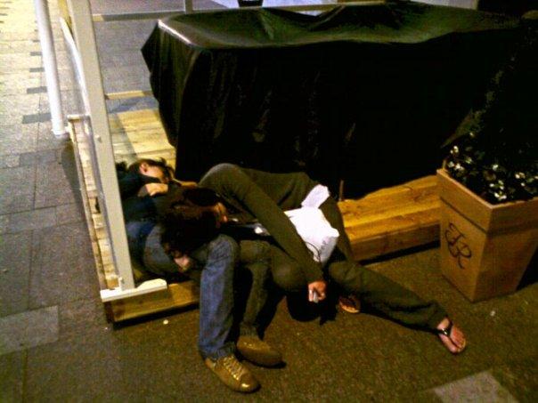 Sleep in the street