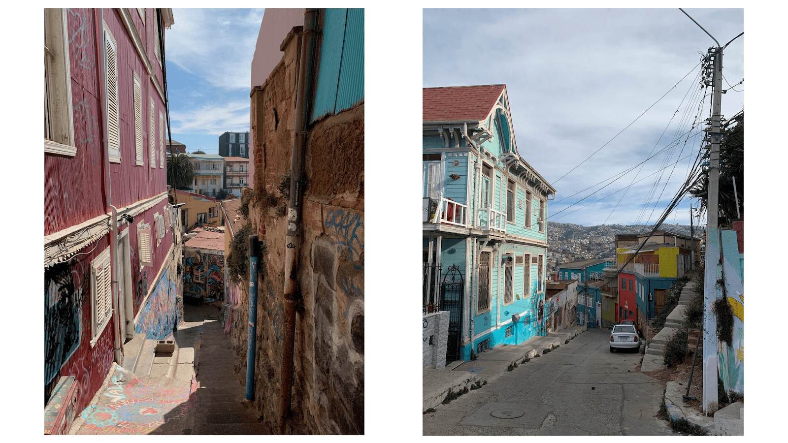 Colorful buildings of Valparaiso